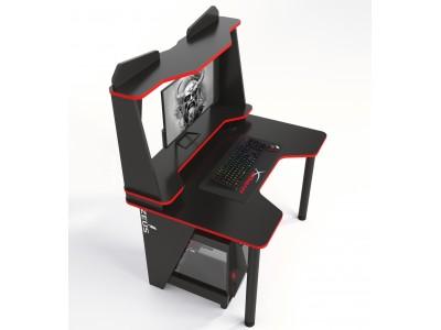 Геймерский игровой стол ZEUS IVAR-2 черный+красный