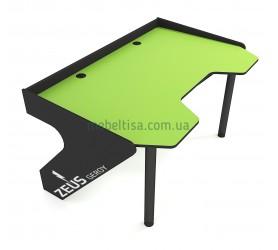 Геймерский игровой стол ZEUS Geroy зеленый+черный