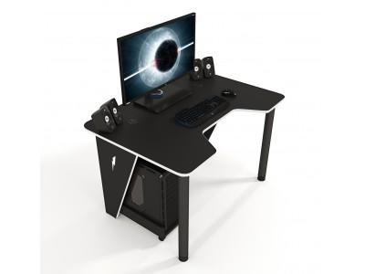Геймерский игровой стол ZEUS IVAR черный+белый