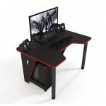 Геймерский игровой стол ZEUS IVAR черный+красный