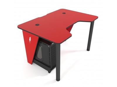 Геймерский игровой стол ZEUS IVAR красный+черный