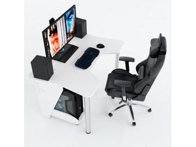 Геймерский игровой стол ZEUS IGROK-3 белый