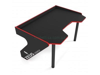 Геймерский игровой стол ZEUS Geroy черный+красный
