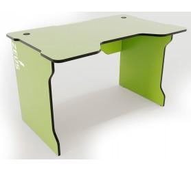 Геймерский игровой стол ZEUS TRON зеленый+черный