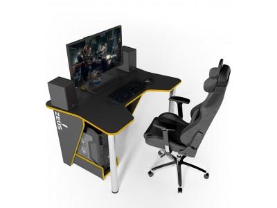 Геймерский игровой стол ZEUS IGROK-3 черный+желтый