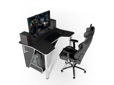 Геймерский игровой стол ZEUS IGROK-3 черный+белый