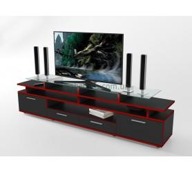 Тумба под телевизор ТВ Comfy Home Cinema черный+красный