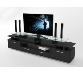 Тумба под телевизор ТВ Comfy Home Cinema черный
