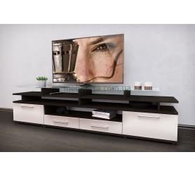 Тумба под телевизор ТВ Comfy Home Cinema венге+белый