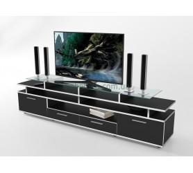 Тумба под телевизор ТВ Comfy Home Cinema черный+белый