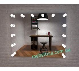 Гримерное зеркало с лампами Лотос