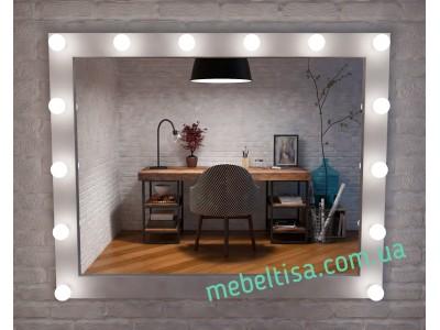 Гримерное зеркало с лампами Слим